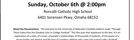 """Through These Gates"" – Nebraska Football Documentary Screening"